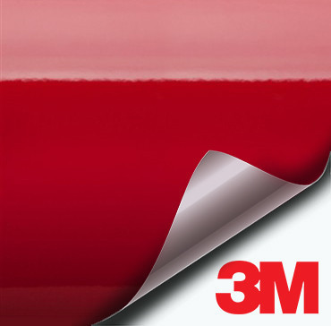 3M Gloss Dragon Fire Red vinyl wrap