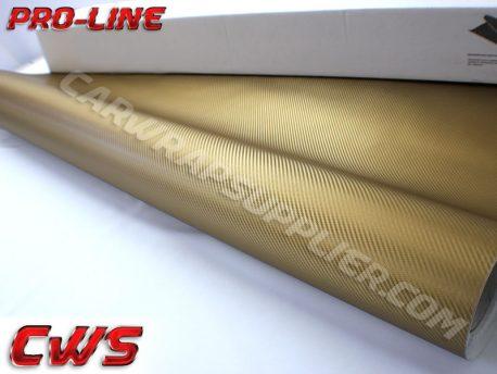 Gold Carbon Fiber Car Wrap Vinyl Film