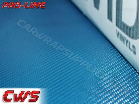 Metallic Blue Carbon Fiber Car Wrap Vinyl Film
