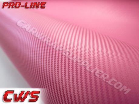 Pink Carbon Fiber Car Wrap Vinyl Film