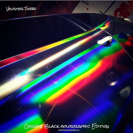 Black Holographic Chrome Vinyl Wrap from CWS