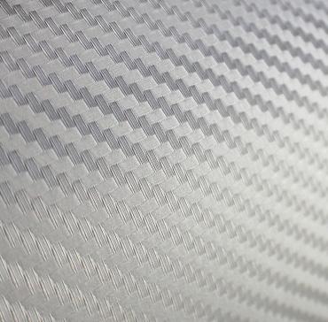 Economy Carbon Fiber Silver Vinyl Film