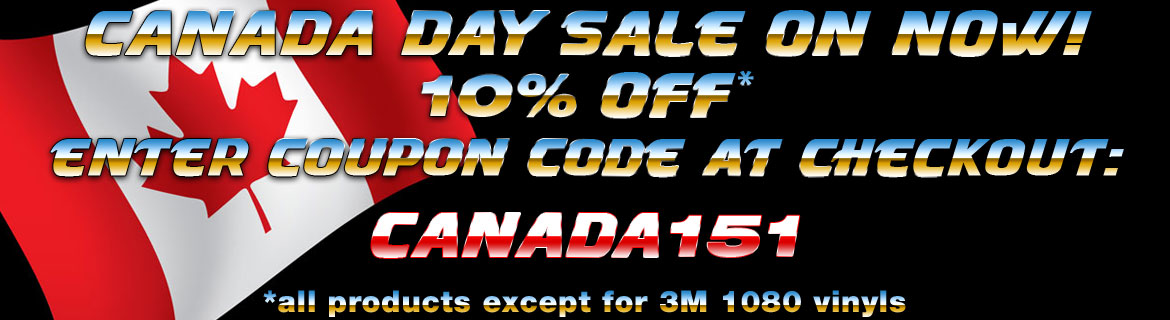 Canada Day Sale Vinyl Wraps 10%