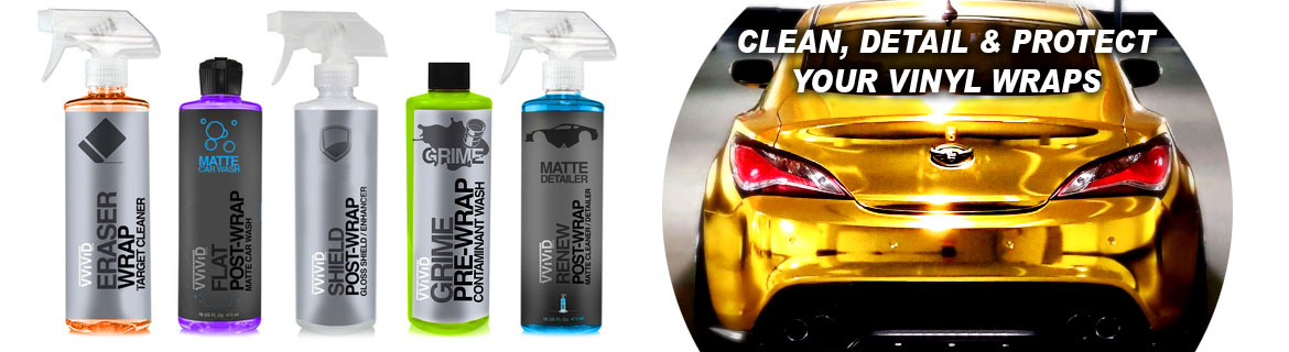 car wrap vinyl care products