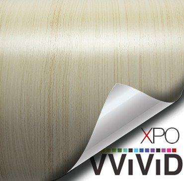 white maple architectural wood grain vinyl wrap