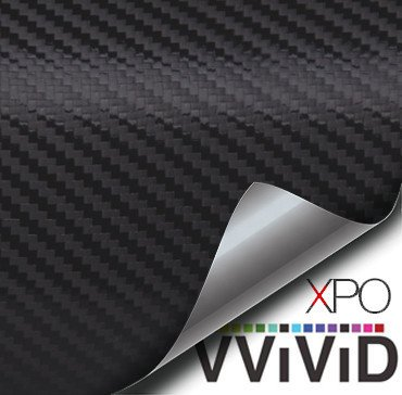 Black Carbon Fiber Car Wrap Vinyl Film