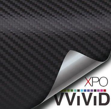Black Carbon Fiber Car Wrap Vinyl Film