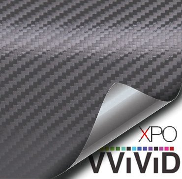Gunmetal Gray Carbon Fiber Car Wrap Vinyl Film