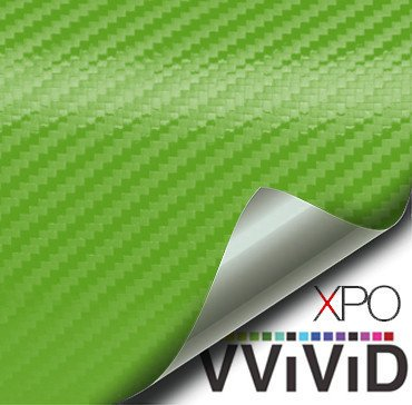 Lime Green Carbon Fiber Car Wrap Vinyl Film