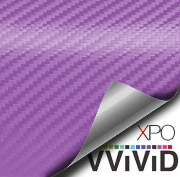 Purple Carbon Fiber Car Wrap Vinyl Film