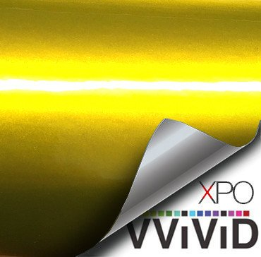 Liquid Metal Yellow vinyl wrap