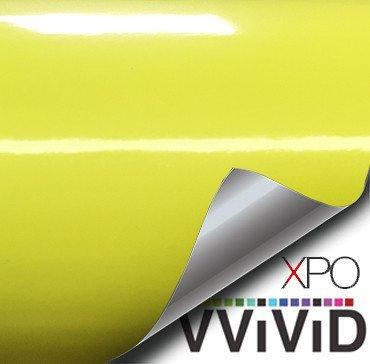 Daytona Yellow Gloss Car Wrap Vinyl Film