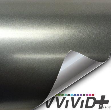 Satin Metallic Charcoal Gray car wrap vinyl film